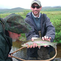 jesse sampson with rainbow trout