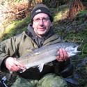 John with a hatchery steelhead