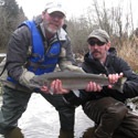 mike with a small native steelhead