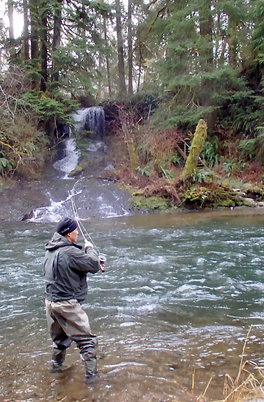 ryan fighting a steelhead
