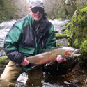 angler with winter steelhead